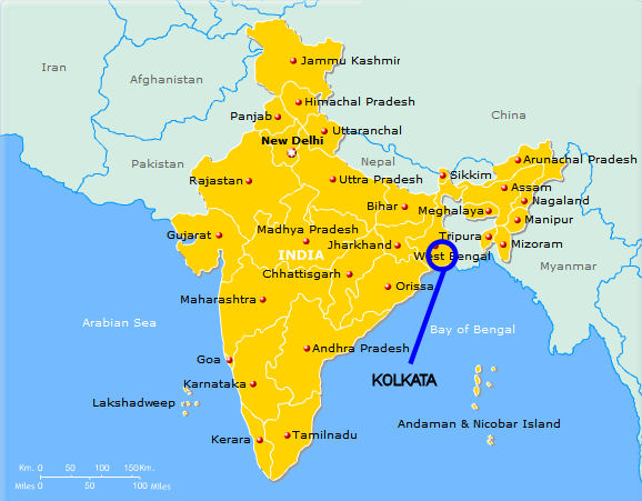 Calcutta Map India – AYHS